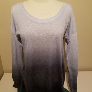 Ideology Long Sleeve Gray Ombre Shirt Small NWT